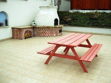 Zelfbouw picknicktafel door Jan K