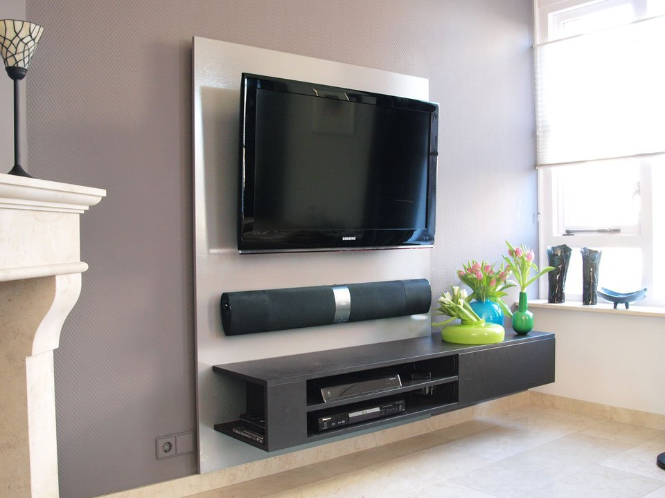 tv meubel maken tekening hangende tv kast. Black Bedroom Furniture Sets. Home Design Ideas