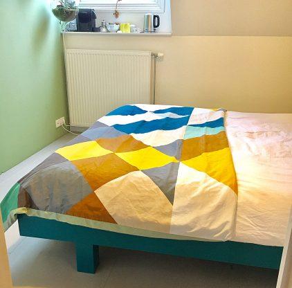 Zelf je bed bouwen: tweepersoonsbed Azobe door Joyce