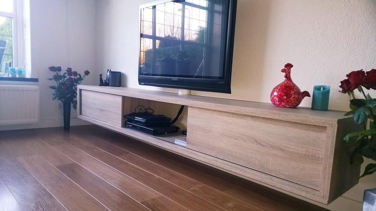 Zwevend hangend tv meubel arturoxl maken door kees