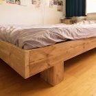 Tweepersoons bed Azobe van steigerhout door Nienke