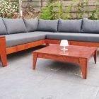 Zelfbouw loungeset YelmoXL in mahonie plaatmateriaal door Paul