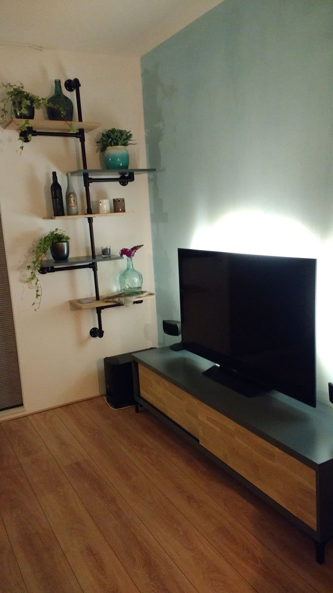 Zwevend Tv Meubel Hout.Floating Tv Stand Arturo Built By Lutina