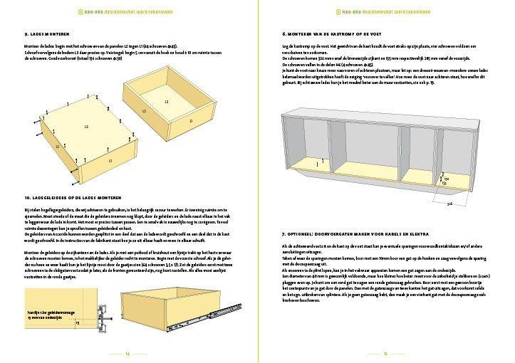 Bouwtekening kast | dressoir Laila Preview 2 pagina's