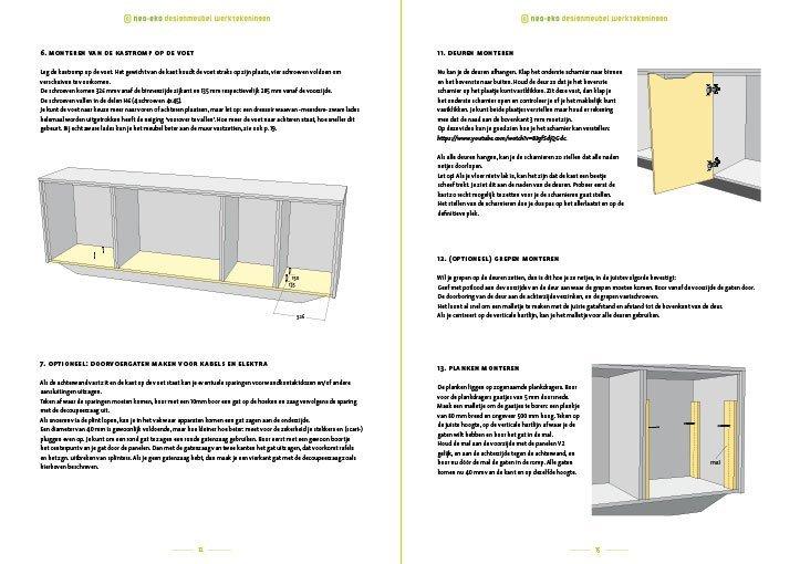 Bouwtekening kast | dressoir Dario Preview 2 pagina's