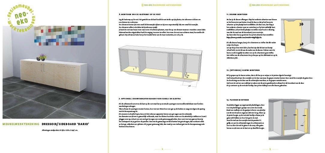 Bouwtekening kast | dressoir Dario Preview 3 pagina's