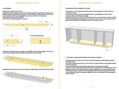 Bouwtekening kast | dressoir Amado Preview 2 pagina's
