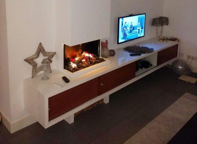Zwevend TV meubel ArturoXL gemaakt door Bas