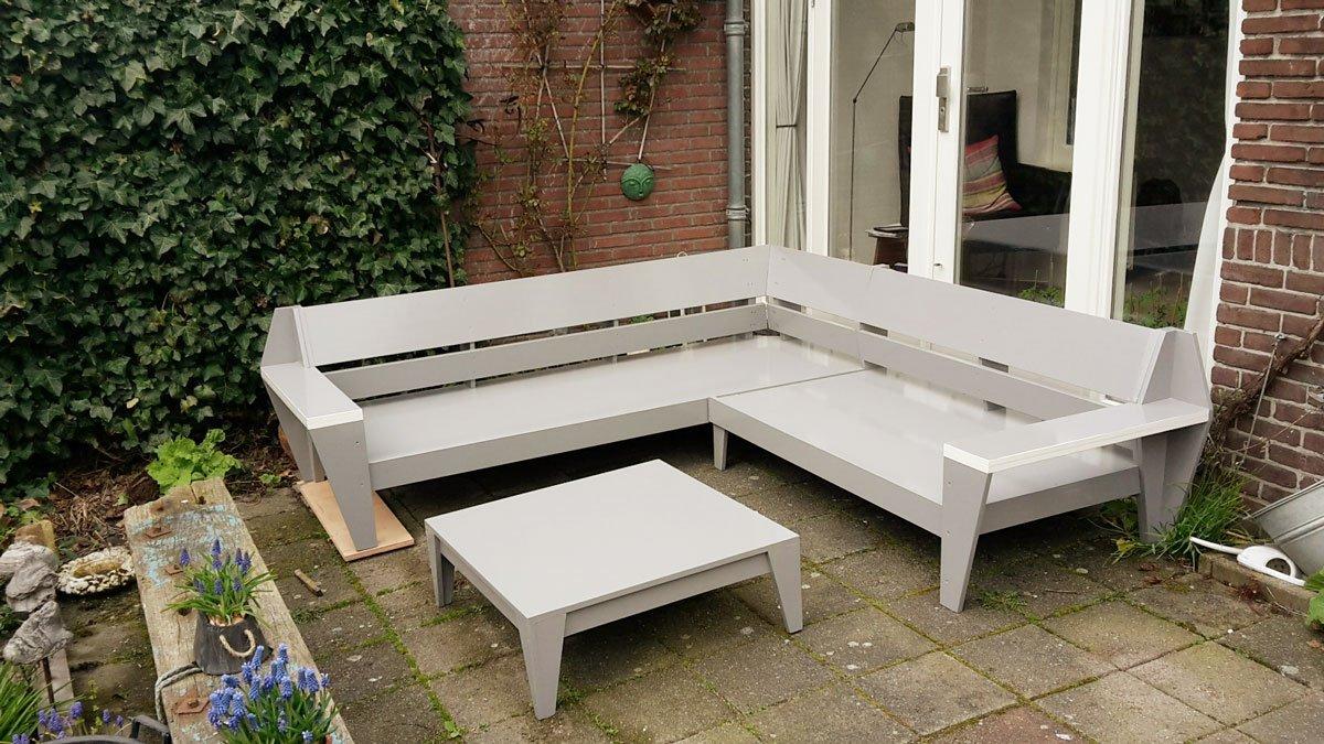 Loungebank maken: YelmoXL gebouwd door Rob