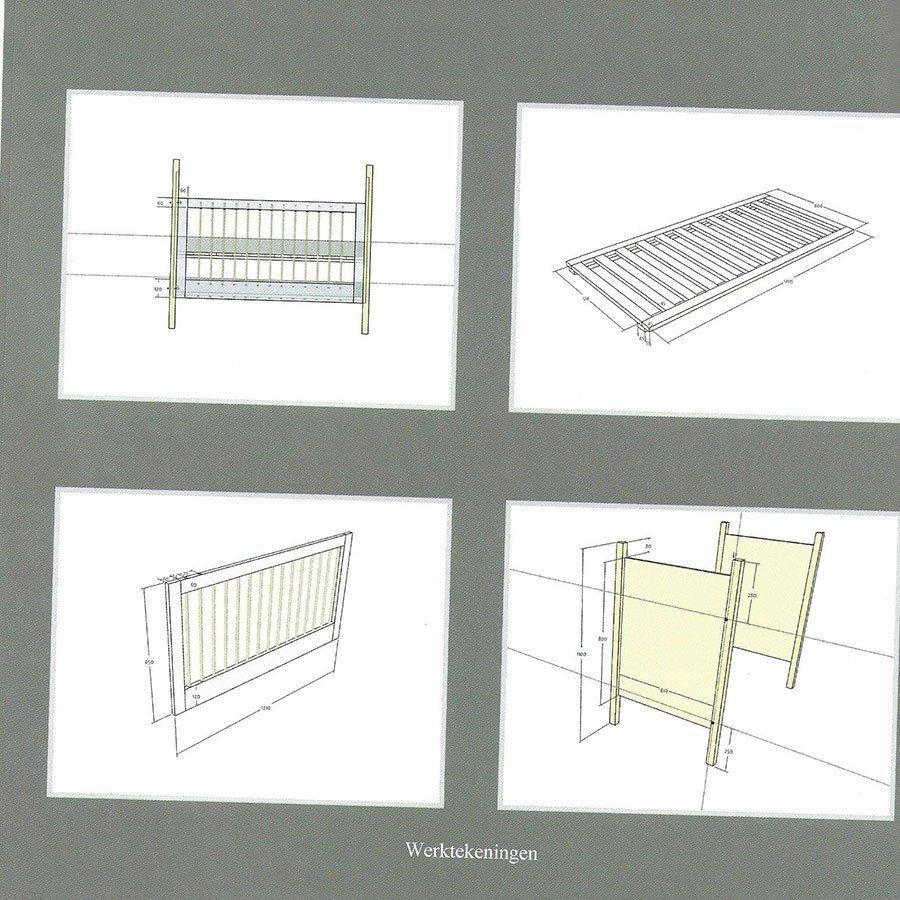 Ledikant zelf bouwen: werktekeningen en detaillering voor Baro