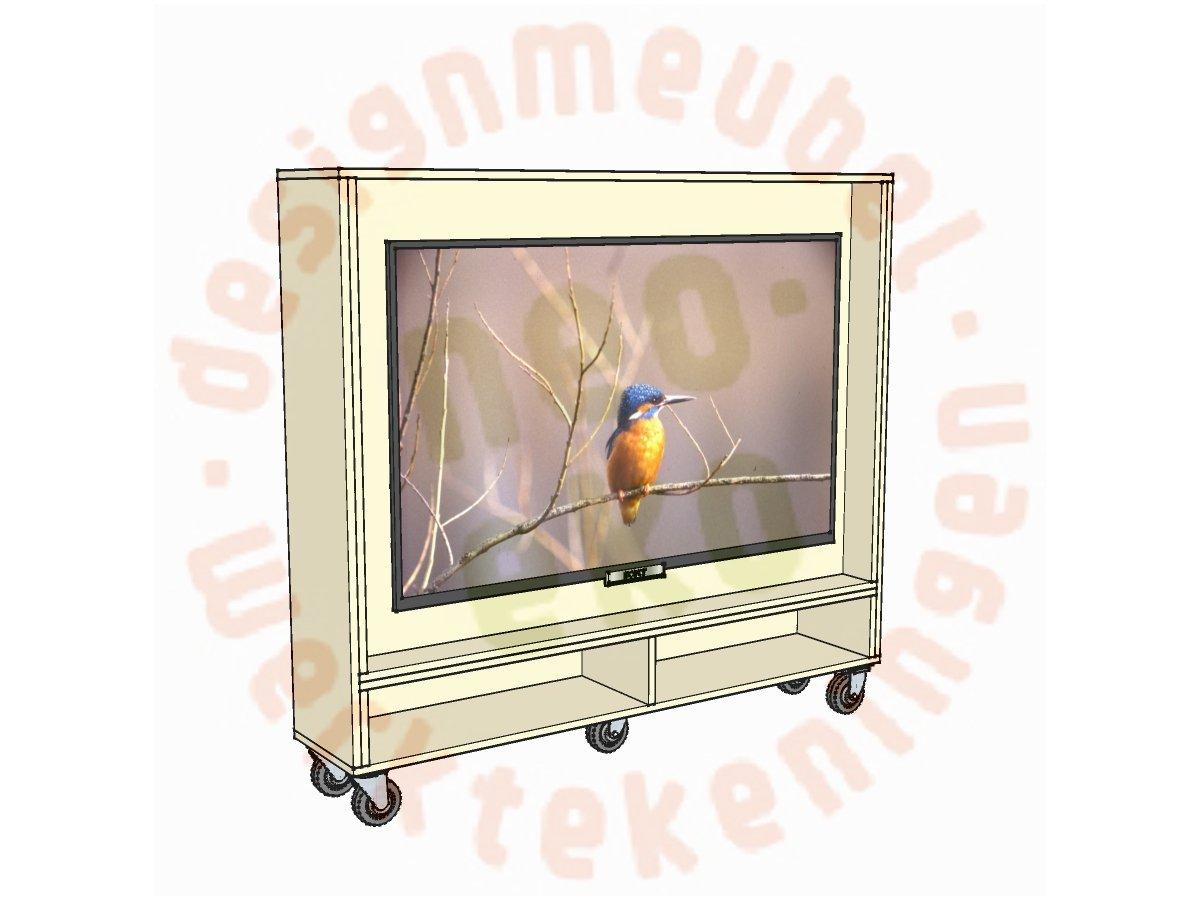 Schets tv-meubel op maat Krissie