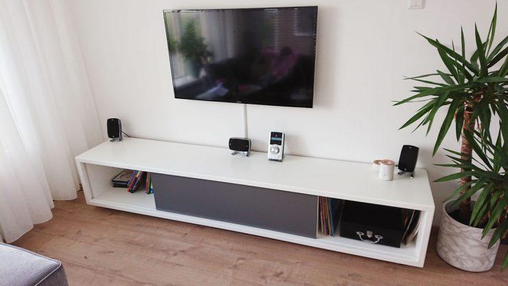 Zwevend TV meubel ArturoXL gemaakt door Jasper