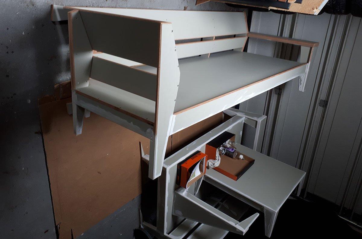 Zelfbouw loungebank YelmoXL gemaakt door Eddy