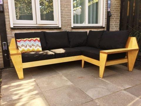 Loungebank maken: YelmoXL gebouwd door Ton