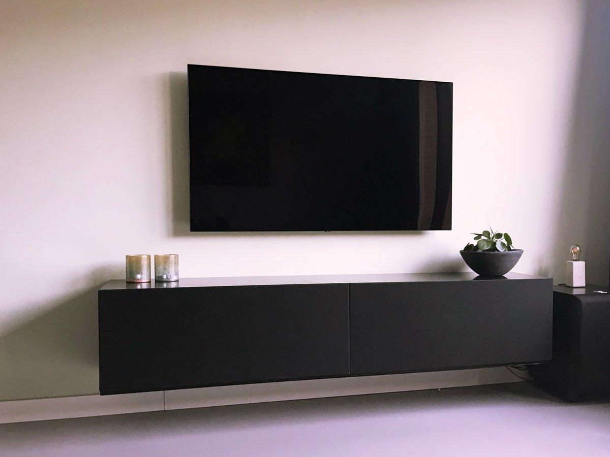 Tv Kast Bed.Werktekening Tv Meubel Zwevend Zelf Maken In Hout Of Mdf