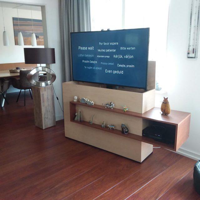 Tv Uit Kast Laten Komen.Tv Meubel Met Lift Zelf Maken In Hout Of Mdf Bouwtekeningen