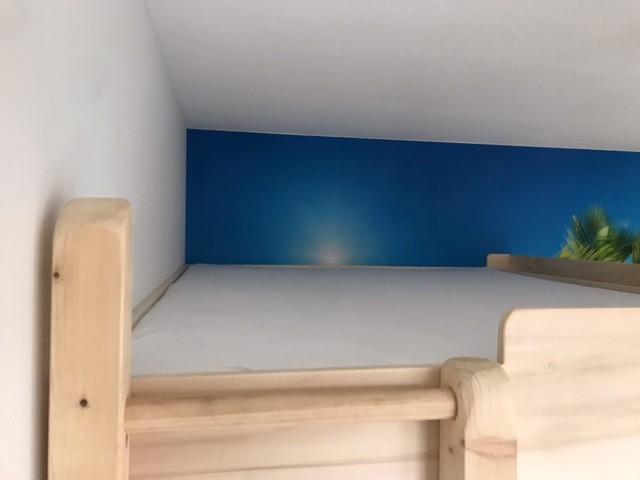 Het is leuk geworden, ik heb het bed iets aangepast maar resultaat is mooi geworden.. nu verlichting eronder bouwen en beetje gezellig maken.