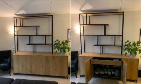 Zelfbouw dressoir Dario, gemaakt en aangepast door Harold