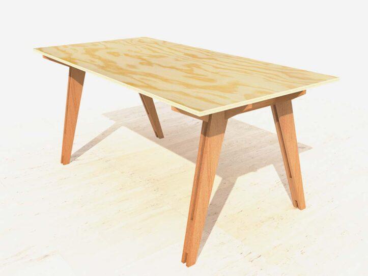 Zelfbouw tafel cotiella