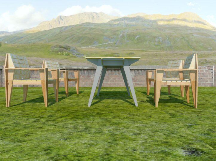 Bouwtekening: tuinset Cotiella zelf maken